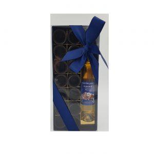 Bicchierini di cioccolato con grappa al Barolo